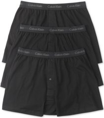 calvin klein men's 3-pk. cotton classics knit boxers nu3040