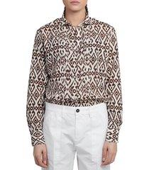 massimo alba brown dea shirt