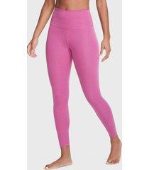 leggings nike the nike yoga 7/8 tight rosa - calce ajustado
