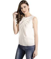 blusa alphorria regata transpassada off white
