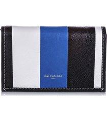 balenciaga bazar leather chain crossbody bag black, multi sz: m