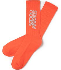 stadium goods embroidered logo socks - orange