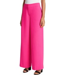 tahari asl pebble crepe wide-legged pants