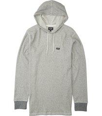 men's billabong men's keystone hoodie, size large - beige