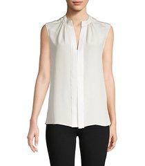 kara sleeveless silk blouse
