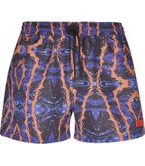 gcds jurassic printed shorts