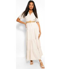 belted maxi dress, stone