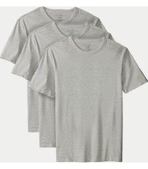 tommy hilfiger men's cotton classics crewneck undershirt 3pk grey - l