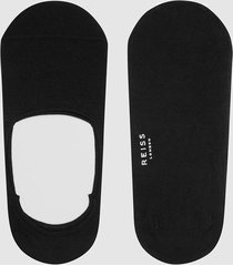 reiss shortie - two pack trainer socks in black, mens