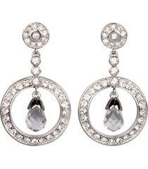 grace kelly collection rhodium plated hanging star pierced earring
