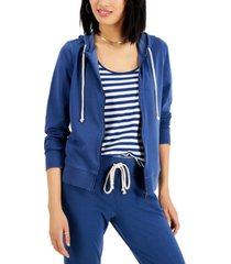 style & co petite zip-up hoodie, created for macy's