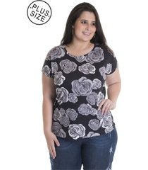 e574adaaa Blusas - Plus Size - Malha Viscose - Royal - 1 produtos com até 61.0 ...