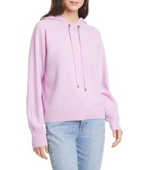 women's nordstrom signature cashmere-blend hoodie sweatshirt, size xx-large - pink