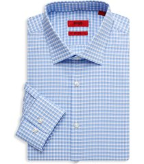 hugo hugo boss men's mabel sharp-fit check dress shirt - blue - size 15 r