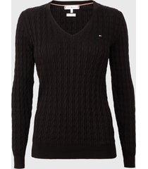 sweater tommy hilfiger negro - calce ajustado