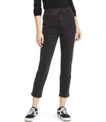women's madewell classic high waist straight leg crop jeans