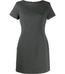 dolce & gabbana pre-owned 1990's shortsleeved straight dress - grey