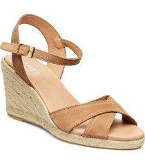dorit sandalette med klack espadrilles beige pavement