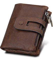 portafoglio in pelle vera con rfid antimagnetico con 11 card slots
