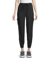 laundry by shelli segal women's drawstring jogger pants - black - size xs