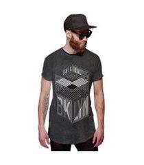 camiseta di nuevo longline brooklyn new york masculina
