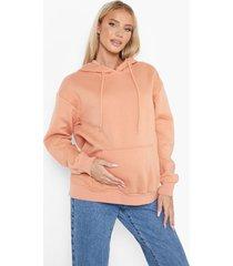 zwangerschap oversized gerecyclede hoodie, rust