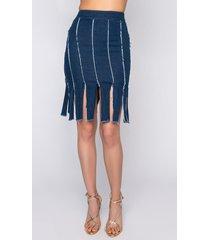 akira pinky promise mini denim skirt with multiple slits