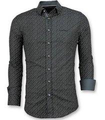 overhemd lange mouw tony backer stretch blouse blad motief