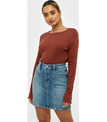 calvin klein jeans seamed high rise mini skirt minikjolar