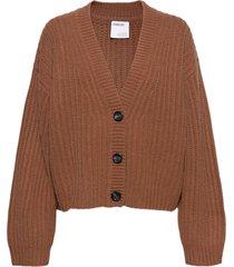 silvia cardigan stickad tröja cardigan brun designers, remix