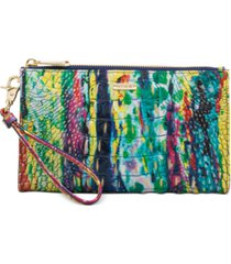 brahmin daisy melbourne embossed leather clutch