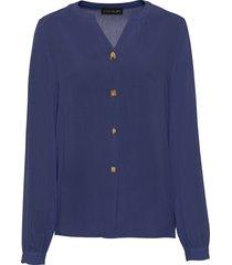 camicia con bottoni fantasia (blu) - bodyflirt