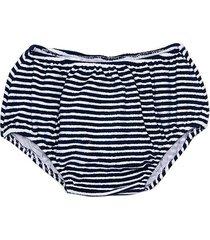 blue striped sponge girl swim bottom brief