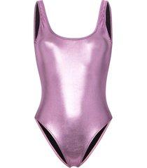 beth richards tie tank one-piece swimsuit - pink