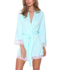 icollection women's alluring knit ultra soft robe, online only