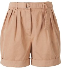 bermuda shorts with belt and buckle