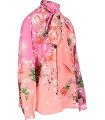 blossom printed shirt
