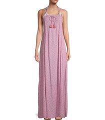 tiare hawaii women's poet floral-print maxi dress - floral pink