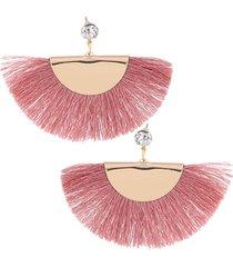 aretes rosa flecos sasmon ar-11794