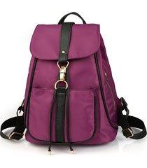 mochila casual mujeres- mochila bandolera de la-púrpura