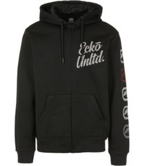ecko unltd men's ecko zip up hoodie with vert rhino repeat