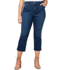 jessica simpson plus trendy cropped raw-hem jeans