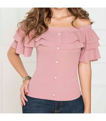blusa china rosado para mujer croydon
