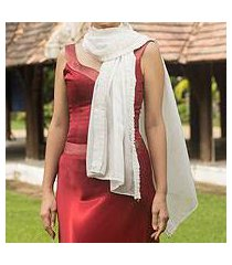 silk scarf, 'white lily' (thailand)