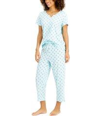 charter club capri cotton pajama set, created for macy's