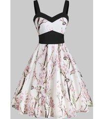 floral print empire waist cami midi dress