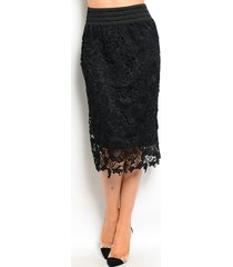 chic crochet lace lined jr skirt, cocktail club party, black, ivory or white