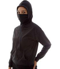 buzo proteccion facial mujer color negro, talla l