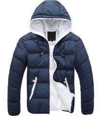 camiseta de manga larga de color dual hombres chaqueta invierno casual abrigos hombres outwear macho
