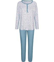 pyjama blue moon ecru::jadegroen